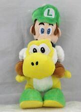 Super Mario 8inch Luigi Riding on Yellow Yoshi Stuffed Plush Toy Kids Gift