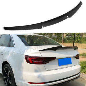 Carbon-Fiber-Rear-Trunk-Spoiler-Lip-Wing-For-Audi-A4-B8-Sedan-2009-2012-M