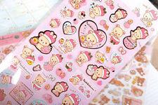 ~ *New San-x Rilakkuma Bear Sticker Sheet C Japan Cute Japan*~ US SHIP +FREE SHP