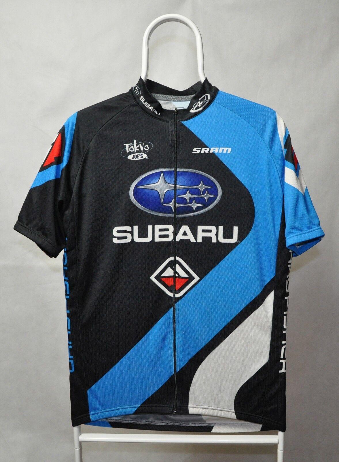 Mens BONTRAGER Subaru Cycling Jersey Size L bike racing