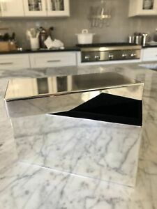 Pottery Barn Eclectic Jewelry Box Silver Plated Rectangle