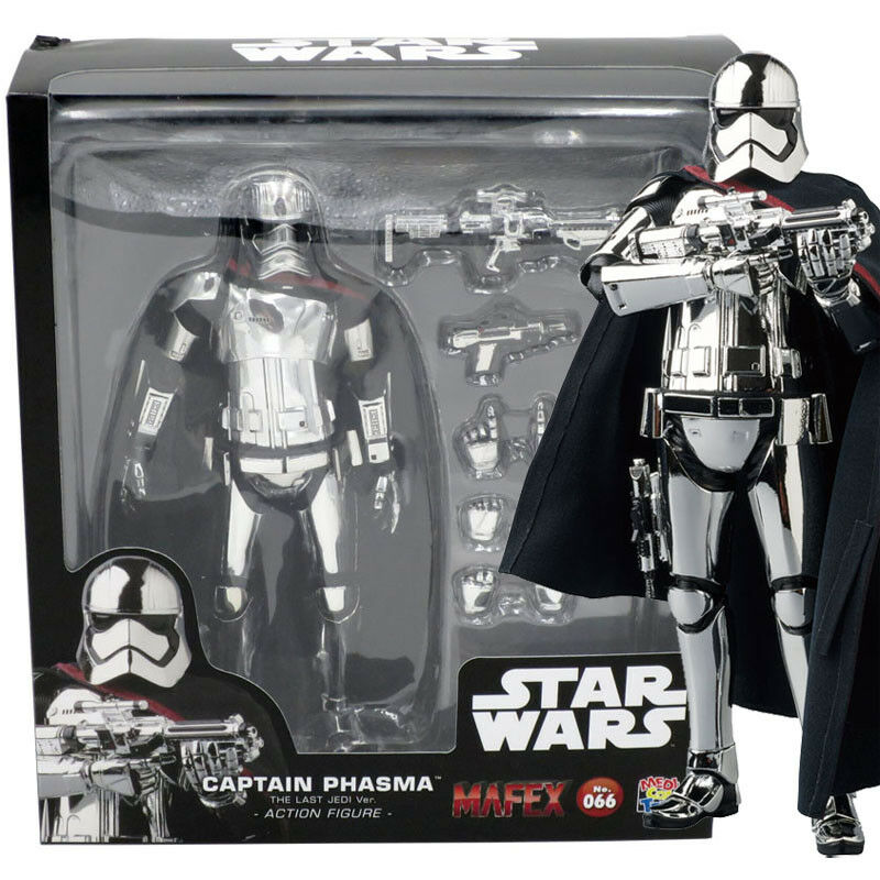 Mafex medicom no.066 star - wars - der letzte jedi ver.captain phasma action - figur