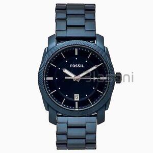 Fossil-Original-FS5231-Men-039-s-Machine-Blue-Stainless-Steel-Watch-42mm