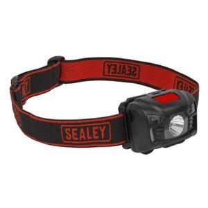Sealey-Rechargeable-Head-Light-Torch-Lamp-3W-CREE-XPE-LED-Auto-Sensor-Flashlight