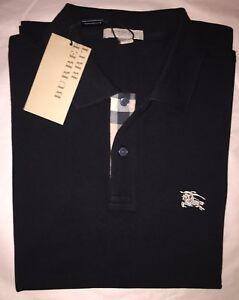 Burberry Brit Men s Check Placket Polo Shirt Black S , M, L, XL, XXL ... 32c8a3bdeb9