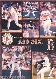 MONSTER-POSTER-MLB-BASEBALL-BOSTON-RED-SOX-6-STARS-PW-SLMP-RED-RAP116-B