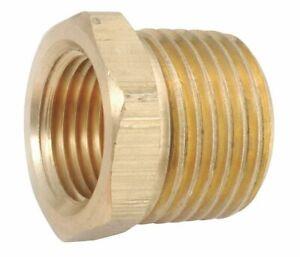Brass-Pipe-Fitting-Reducer-3-4-034-NPT-MALE-X-3-8-034-NPT-FEMALE