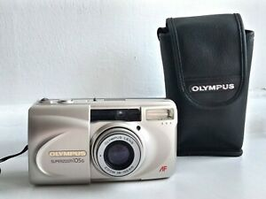OLYMPUS-Superzoom-105G-35mm-Film-Camera-with-Case-and-Strap-Excellent