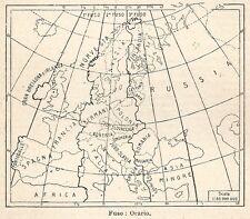 A6218 Fuso Orario - Carta geografica del 1926
