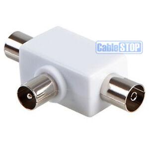 2-voie-coaxial-cable-antenne-de-television-t-splitter-1-bouchon-a-2-sockets-Ariel-adaptateur-PAL