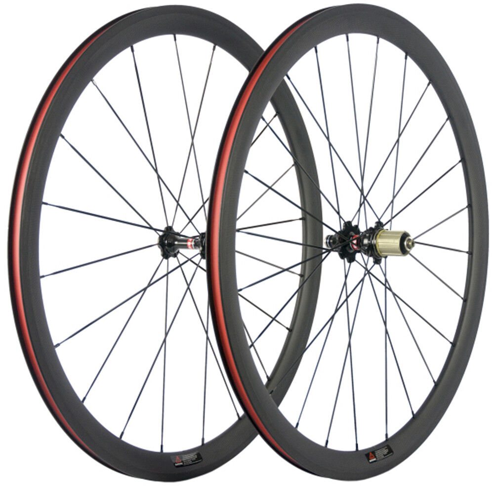 Carbon Wheels Wheelset 38mm Clincher 23mm  Width Shimano Campagnolo 8 9 10 11s  reasonable price