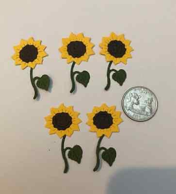 Scrapbook /& Card Making 5 Flowers  Premade PAPER Die Cuts