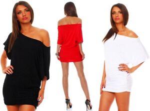 e2befd87e2d9 Das Bild wird geladen Sexy-Damen-Longshirt-Shirt-Tunika-Bluse-Pullover-T-