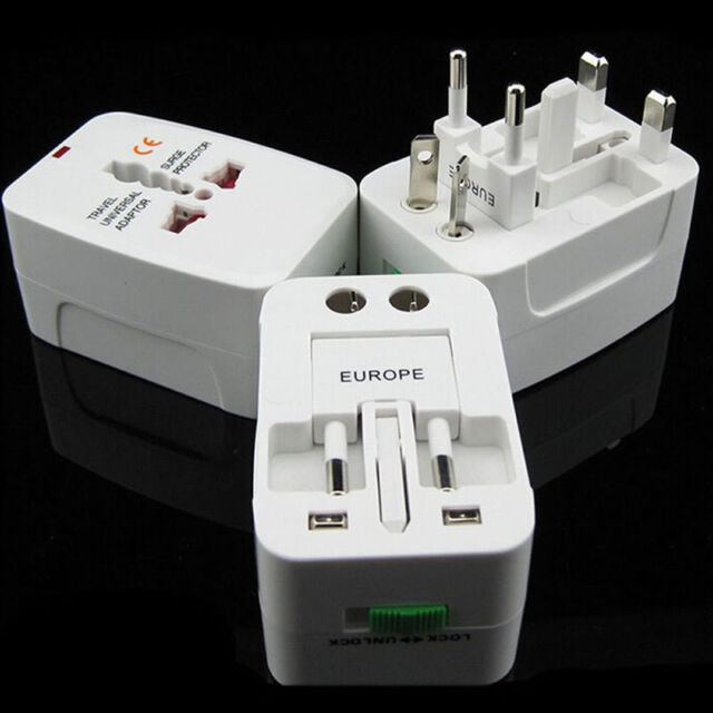 EU AU UK US To World Universal Travel AC Power Plug Convertor Adapter Socket CN