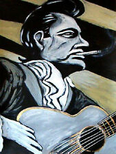 JOHNNY CASH PRINT poster guitar at folsom prison the man in black unearthed cd