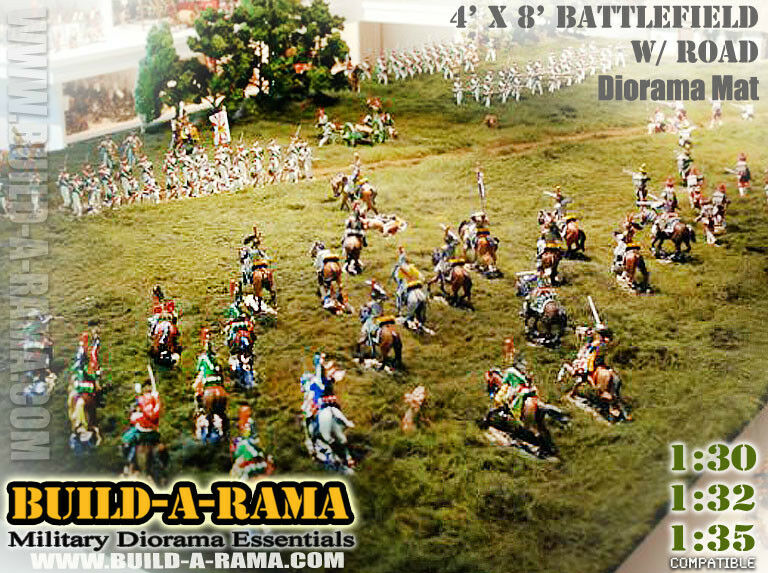 WOW 1 32 HUGE 8X4 DIORAMA MAT wROAD for KING & COUNTRY CONTE Britains 40k l