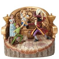 Disney Traditions Daring Duel (carved By Heart Peter Pan Figurine) - Official