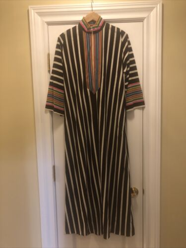 Loungees Vintage 60s Robe Nightgown Housecoat Zip