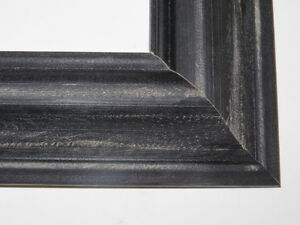 1-8-034-Black-Weathered-Distressed-Solid-Wood-Picture-Frames-Custom-Standard-Sizes