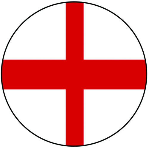 """England English St George/'s Flag Round 8/"""" Easy Precut Icing Cake Topper"""