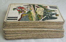 ANTIQUE 1800-1900 TAROT FERD. PIATNIK & SON, WIEN 54 PLAYING CARDS Original Vtg