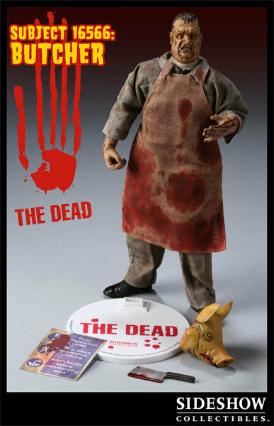 Sideshow THE DEAD SUBJECT 16566 BUTCHER 1 6 scale 12  figure TWD zombie SDCC