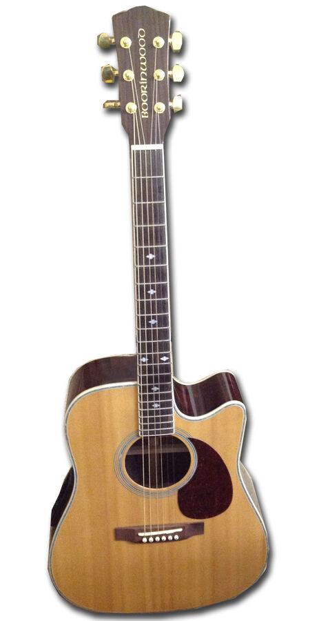 New Boorinwood SDC130SE Semi Acoustic Guitar Natural @@ ROTuction sale