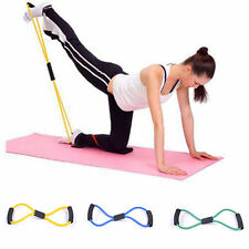 Newly Yoga Rope Heavy Resistance Band Trainers Stretch Body 8 Shaped Fitness F2