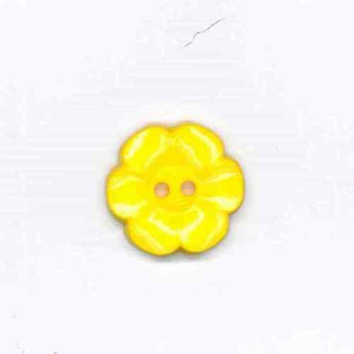 2 TROUS 23 mm Jaune Daisy en forme de bouton