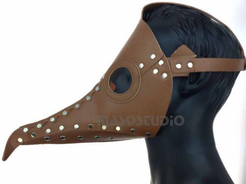Plague Doctor Curvy Nose Steampunk Bird Beak Mask Halloween Costume Party Unisex