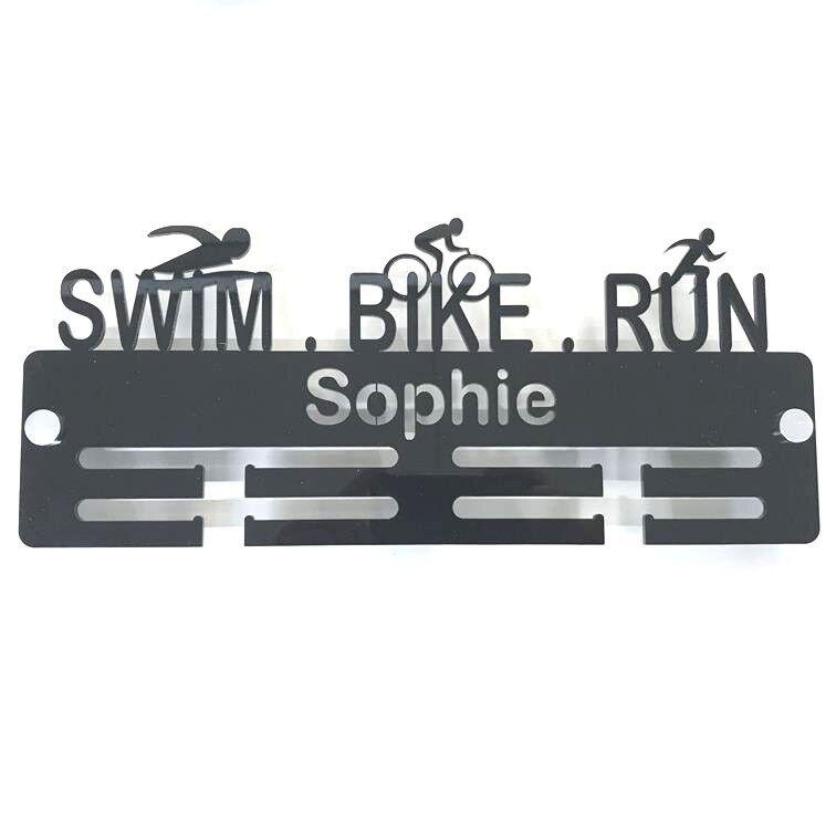 Personalisiert Schwimmer Schwimmer Schwimmer Biker Läufer Medaille Anhänger - Viele Farben, 7e791a
