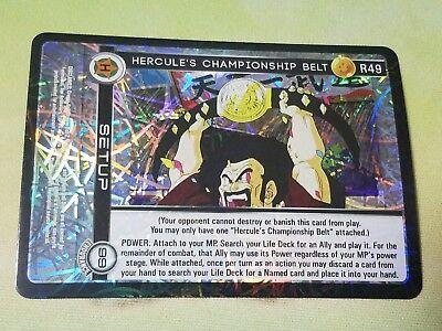 Dragon Ball Z DBZ CCG TCG Custom Panini Proxy Foil Hercule's Champsionship Belt