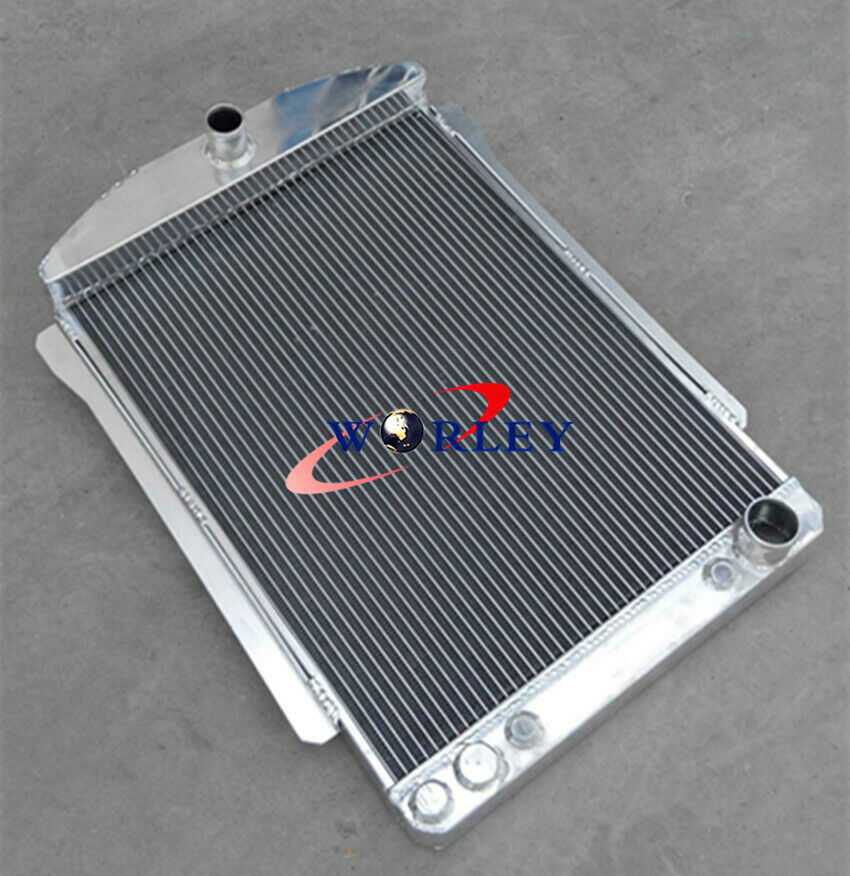 ALUMINUM ALLOY RADIATOR FIT CHEVY CAR STREET ROD AUTO 1940-1941 56MM A//T