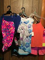 Girls Summer Lot Clothes Size 10/12 6 Piece Items Swimsuit Aerial $42 Value