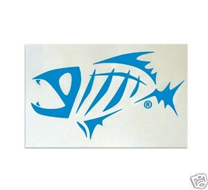 G-LOOMIS-NEON-BLUE-SKELETON-FISH-STICKER