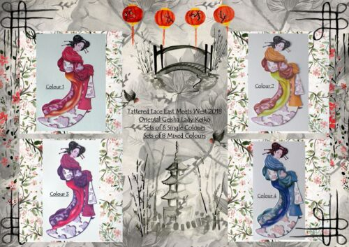 Tattered Lace EAST MEETS WEST Collection 2018 Geisha Lady Keiko 6//8 Die Cut Set