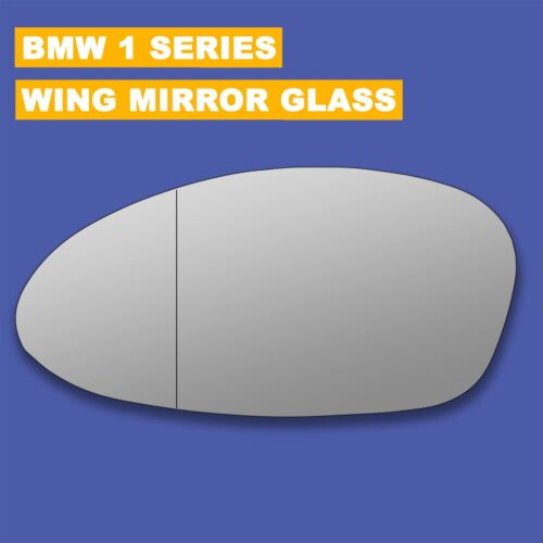 For BMW 1 Series wing mirror glass 04-10 Left side Aspherical Blind Spot