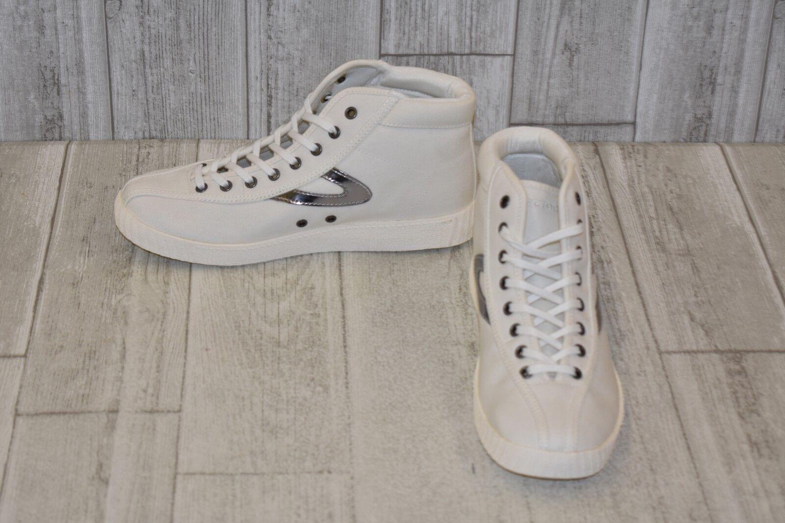Tretorn Nylite Hi Sneaker, Women's Size 8, White