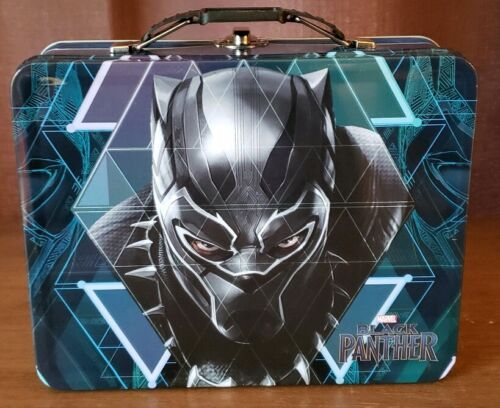 Marvel/'s BLACK PANTHER Tin Tote Metal Lunch Box Excellent Condition