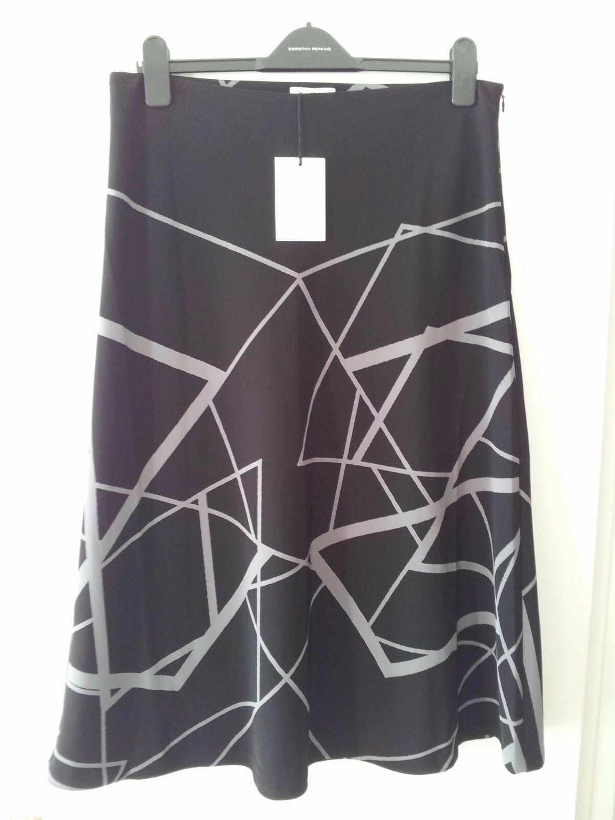 Ladies Gant A Line DIAMOND G Printed Skirt UK Size 16 RRP BNWT