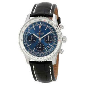 Breitling-Navitimer-1-Chronograph-Automatic-Chronometer-Blue-Dial-Men-039-s-Watch