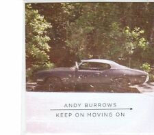 (DW569) Andy Burrows, Keep On Moving On - 2013 DJ CD