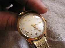 Vintage Modern Benrus Shock Absorber Watch #2155 20 Micron Gold Plate 17 Jewels