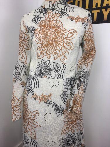 vintage silver floral maxi dress