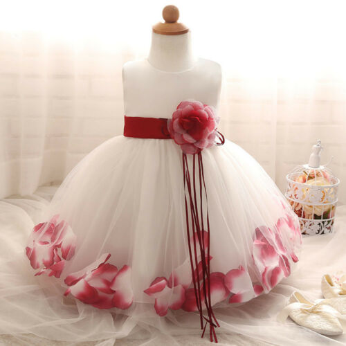 Flower Girl Summer Princess Dress Baby Party Wedding Pageant Dresses Clothes Lot