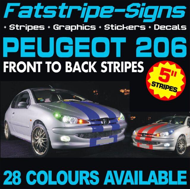 PEUGEOT 206 GRAPHICS STRIPES DECALS STICKERS GTI PUG 1.0 1.4 1.6 2.0 CC GTI RC D