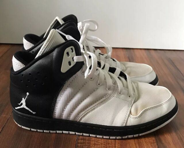 sale retailer bbb0c 44c55 Nike Air Jordan 1 Flight 4 820135-004 Shoes Mens High Top 10 White Black
