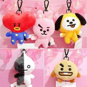 Kpop-Plush-Keychain-Doll-Key-Ring-CHIMMY-COOKY-RJ-Stuffed-Toy-Keyring