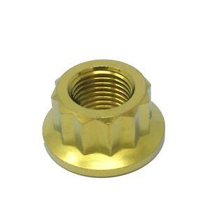 M10-x-1-0-Titanium-Bi-Hex-Flange-Nut-12-point-Ti-sprocket-gr5-CNC-Ducati-Aprilia