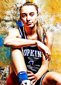 2021 Paige Bueckers Uconn Huskies Basketball 2/25 Art ACEO Print Card By:Q